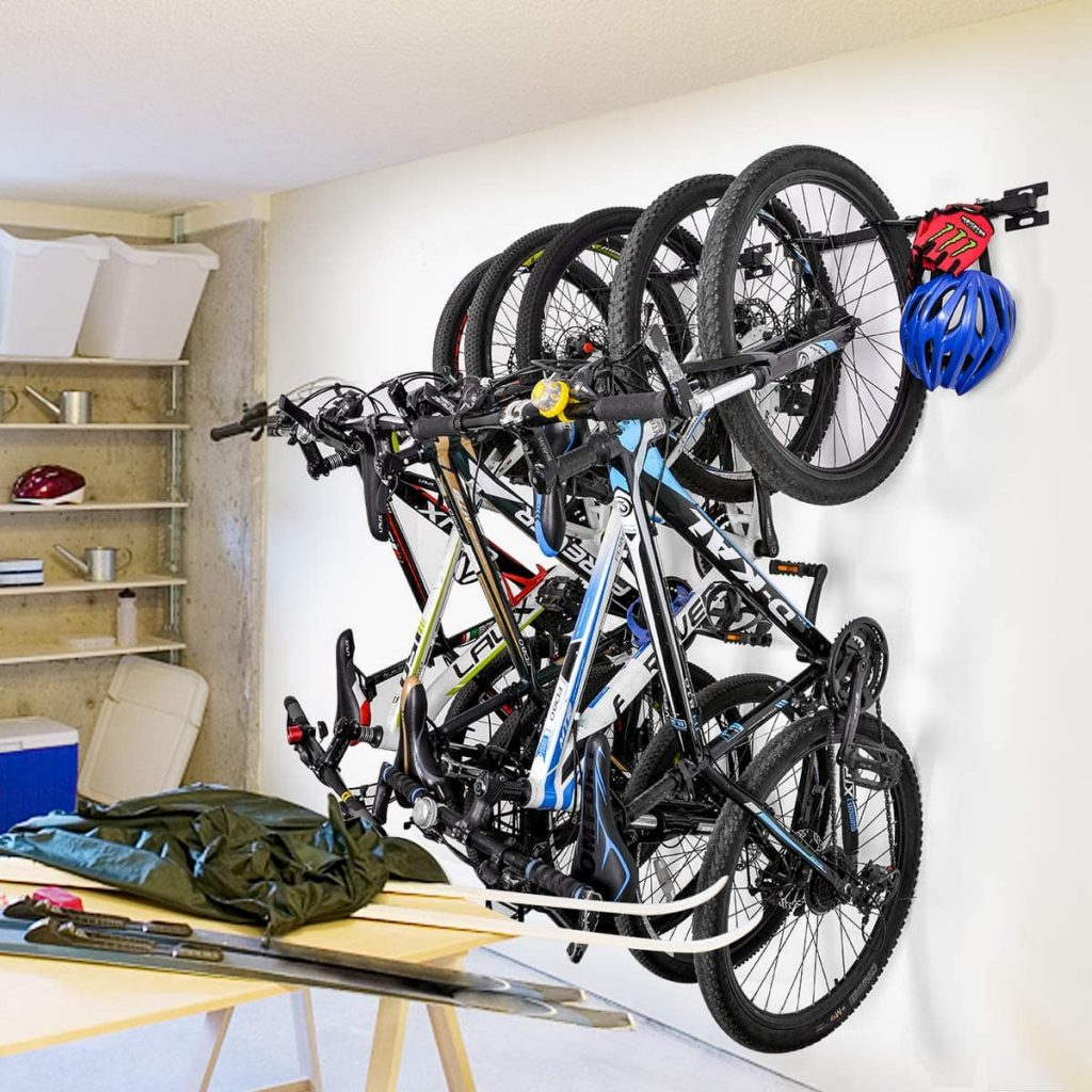Soporte pared vertical bicicletas