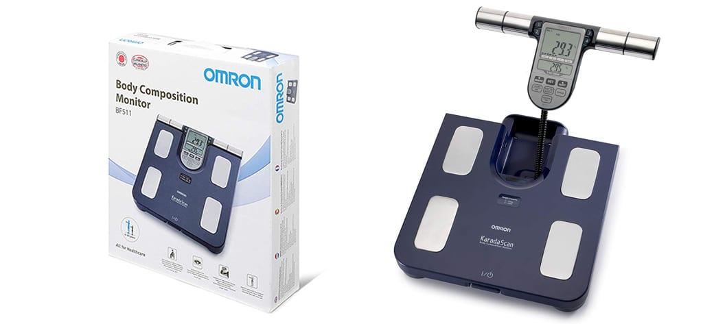 Báscula medidor de grasa Omron
