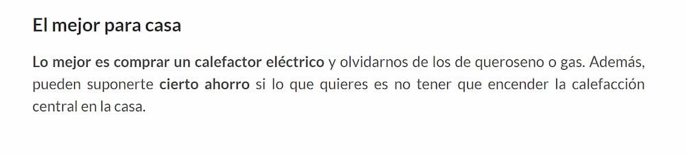 OCU radiadores eléctricos